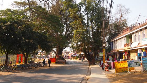 ポカラのメインストリート。