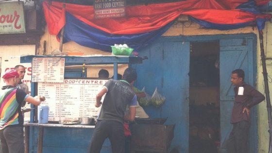 コルカタ滞在中。通い詰めた屋台。